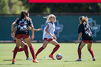 STANFORD, CA - SEPTEMBER 12: Sierra Enge before a game between Loyola Marymount University and Stanford University at Cagan Stadium on September 12, 2021 in Stanford, California.