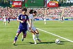 Saori Ariyoshi (JPN), Claire Rafferty (ENG), JULY 1, 2015 - Football / Soccer : FIFA Women's World Cup Canada 2015 Semi-final match between Japan 2-1 England at Commonwealth Stadium in Edmonton, Canada. (Photo by AFLO)