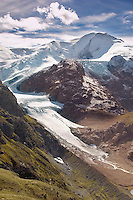 Steingletscher glacier moutain viewing point -Suskenpass - Alps Switzerland