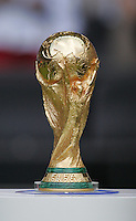 The World Cup waits on the sidelines.  Italy defeated France on penalty kicks after leaving the score tied, 1-1, in regulation time in the FIFA World Cup final match at Olympic Stadium in Berlin, Germany, July 9, 2006.
