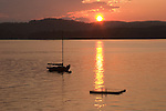 Sunset on Lake Sunapee, New London, NH