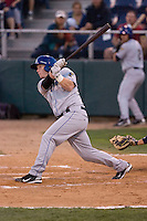 August 24, 2010: Tri-City Dust Devils' Jared Simon (9) at-bat during a Northwest League game against the Everett AquaSox at Everett Memorial Stadium in Everett, Washington.