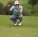 Aaron Baddeley (AUS) lines up his putt on the 8th green during Day 2 of the Volvo World Match Play Championship in Finca Cortesin, Casares, Spain, 20th May 2011. (Photo Eoin Clarke/Golffile 2011)