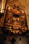 One of the many treasures housed in the Cathedral of Saint Mary of the See in Seville. The largest gothic cathedral in the world it occupies the site of Hagia Sophia, a mosque built by the Almohads in the late 12th century. La Giralda, its bell tower, is a legacy from the Moorish structure.