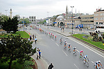 The peloton lined out during Stage 8 of the 2015 Presidential Tour of Turkey running 124km from Istanbul to Istanbul. 3rd May 2015.<br /> Photo: Tour of Turkey/Mario Stiehl/www.newsfile.ie