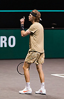 Rotterdam, The Netherlands, 6 march  2021, ABNAMRO World Tennis Tournament, Ahoy,  <br /> Semi final:  Andrey Rublev (RUS). Photo: www.tennisimages.com/