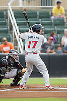 Andrew Pullin (17) of the Lakewood BlueClaws at bat against the Kannapolis Intimidators at CMC-NorthEast Stadium on July 20, 2014 in Kannapolis, North Carolina.  The Intimidators defeated the BlueClaws 7-6. (Brian Westerholt/Four Seam Images)