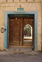 Al-Mansfah, Oman.  Doorway into Private Courtyard.