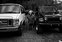 """War, WV, October 25 2008.Powerful, gas-guzzling trucks are everywhere: yet """"West Virginia Southernmost city"""", War is a small coal miners' town, hit hard by the economic crisis; many of its inhabitants will vote for Obama as McCain is perceived to be the man from the oil companies, trying to destroy the coal mining industry."""