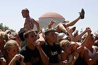 fans. Fall Out Boy, Vans Warped Tour, Fairgrounds; 7.16.2005<br />