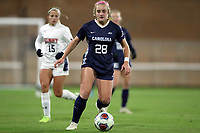 CHAPEL HILL, NC - NOVEMBER 16: Maggie Pierce #28 of the University of North Carolina plays the ball during a game between Belmont and North Carolina at UNC Soccer and Lacrosse Stadium on November 16, 2019 in Chapel Hill, North Carolina.