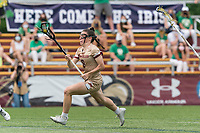 NEWTON, MA - MAY 22: Charlotte North #8 of Boston College brings the ball forward during NCAA Division I Women's Lacrosse Tournament quarterfinal round game between Notre Dame and Boston College at Newton Campus Lacrosse Field on May 22, 2021 in Newton, Massachusetts.
