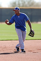 Adrian Beltre #29 of the Texas Rangers participates in spring training workouts at the Rangers complex on February 21, 2011  in Surprise, Arizona. .Photo by:  Bill Mitchell/Four Seam Images.