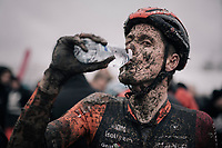 Jens Adams (BEL/Pauwels Sauzen-Vastgoedservice) hydrating post-finish<br /> <br /> Elite Men's Race<br /> Belgian National CX Championschips<br /> Kruibeke 2019