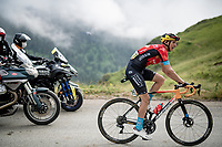 Dylan Teuns (BEL/Bahrain-Victorius) in the final kilometers up the final climb of the day; the Col du Portet (HC/2215m)<br /> <br /> Stage 17 from Muret to Saint-Lary-Soulan (Col du Portet)(178km)<br /> 108th Tour de France 2021 (2.UWT)<br /> <br /> ©kramon