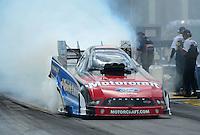 May 6, 2012; Commerce, GA, USA: NHRA funny car driver Bob Tasca III during the Southern Nationals at Atlanta Dragway. Mandatory Credit: Mark J. Rebilas-