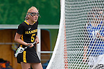 GER - Hannover, Germany, May 30: During the Women Lacrosse Playoffs 2015 match between Muenster Mohawks (blue) and HTHC Hamburg (black) on May 30, 2015 at Deutscher Hockey-Club Hannover e.V. in Hannover, Germany. Final score 9:20. (Photo by Dirk Markgraf / www.265-images.com) *** Local caption ***Josi Probst #5 of HTHC Hamburg