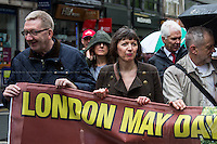 (From L to R) Len McCluskey (General Secretary of Unite), Frances O'Grady (Trades Union Congress, TUC General Secretary) & Jeremy Corbyn MP (Labour Member of Parliament for Islington North).<br />