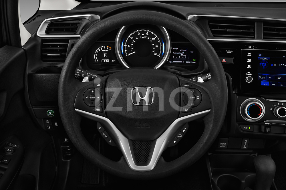 Car pictures of steering wheel view of a 2018 Honda Fit EX CVT 5 Door Hatchback