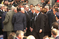 Montreal (qc) CANADA - Oct 3rd 2000 file Photo- Funeral of former Canadien Prime Minister Pierre Eliott Trudeau : Fidel Castro<br /> <br /> PHOTO : Agence Quebec Presse - Pierre Roussel