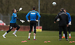 Steve Simonsen training to take the place of the concussed Cammy Bell tomorrow