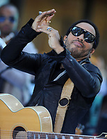 NEW YORK, NY - SEPTEMBER 02: Lenny Kravitz performs on NBC's 'Today' at Rockefeller Plaza on September 2, 2011 in New York City.<br /> <br /> People:  Lenny Kravitz<br /> <br /> Transmission Ref:  MNC1<br /> <br /> Must call if interested<br /> Michael Storms<br /> Storms Media Group Inc.<br /> 305-632-3400 - Cell<br /> 305-513-5783 - Fax<br /> MikeStorm@aol.com