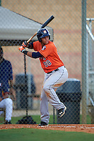Houston Astros Randy Cesar (98) during an instructional league game against the Atlanta Braves on October 1, 2015 at the Osceola County Complex in Kissimmee, Florida.  (Mike Janes/Four Seam Images)