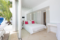 BNPS.co.uk (01202 558833)<br /> Pic: CapVillas/BNPS<br /> <br /> A bedroom with French windows<br /> <br /> The property in Cap d'Antibes has four bedrooms suitable for six to eight people<br />  <br /> A glamorous villa that has hosted a string of celebrities including Winston Churchill, Pablo Picasso, the Duke of Windsor and Edith Piaf is on the market for £9m (10.5m euros).<br /> <br /> The exquisite Villa La Garoupe Beach sits on a natural sand beach and has its own private beach on one of the French Riviera's most exclusive spots.<br /> <br /> It was once a renowned beach club and the list of names connected to the property are endless. French singer Edith Piaf hosted her engagement party to Theo Sarapo there and it was also visited by former US President Harry Truman, writer Ernest Hemingway, Bond actor Sean Connery and movie star Marlene Dietrich.<br /> <br /> The property in Cap d'Antibes has four bedrooms suitable for six to eight people, three bathrooms and a living area overlooking the sea.