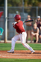 Boston College Eagles shortstop Jake Palomaki (11) grounds into a fielders choice during a game against the Minnesota Golden Gophers on February 23, 2018 at North Charlotte Regional Park in Port Charlotte, Florida.  Minnesota defeated Boston College 14-1.  (Mike Janes/Four Seam Images)