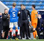 22.08.2020 Rangers v Kilmarnock: Steven Gerrard salutes his record breaking Iron Curtain beating defenders at full-time