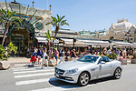 Principality of Monaco, on the French Riviera (Côte d'Azur), district Monte Carlo: Brasserie le Café de Paris opposite to the Casino Monte-Carlo | Fuerstentum Monaco, an der Côte d'Azur, Stadtteil Monte Carlo: Brasserie le Café de Paris gegenueber vom Casino Monte-Carlo