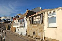 BNPS.co.uk (01202 558833)<br /> Pic: Lillicrap Chilcott/BNPS<br /> <br /> Humble home stunning views...<br /> <br /> A humble waterside cottage that inspired a number of picturesque oil paintings has emerged for sale for £650,000.<br /> <br /> Turnstones Cottage in St Ives, Cornwall was home to landscape artist Pauline Hewitt in the 1930s before later being bought by abstract painter Patrick Heron.<br /> <br /> The pair were both drawn to the property's breathtaking sea views that look right out over a charming Cornish harbour.
