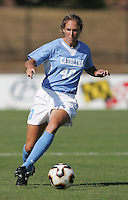 OCT 2, 2005: College Park, MD, USA:  UNC Tarheel defender #40 Vanessa Toll brings the ball upfield while playing the  Maryland Terrapins at Ludwig Field.  UNC won, 4-0. Mandatory Credit: Photo By Brad Smith (c) Copyright 2005 Brad Smith
