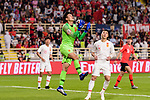China Goalkeeper Yan Junling saves the ball during the AFC Asian Cup UAE 2019 Group C match between South Korea (KOR) and China (CHN)  at Al Nahyan Stadium on 16 January 2019 in Abu Dhabi, United Arab Emirates. Photo by Marcio Rodrigo Machado / Power Sport Images