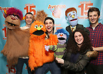 "Jason Jacoby and Matt Dengler with Avenue Q & Puppetry Fans during ""Avenue Q"" Celebrates World Puppetry Day at The New World Stages on 3/21/2019 in New York City."