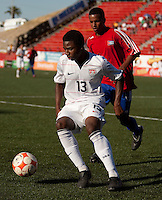 Joseph Gyau controls the ball. The Under-17 US Men's National Team defeated Cuba 5-0 at the 2009 CONCACAF Under-17 Championship April 21, 2009 in Tijuana, Mexico.