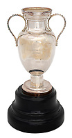 BNPS.co.uk (01202 558833)<br /> Pic: Julien'sAuctions/BNPS<br /> <br /> Pictured: Alfredo Di Stefano 1956 Real Madrid UEFA European Champions Cup Miniature Reproduction Trophy.<br /> <br /> An epic collection of medals, trophies, shirts and personal items relating to footballing legend Alfredo Di Stefano is being sold by his family for over £1m.<br /> <br /> Many of the awards won by the great goalscorer have, until recently, been on display at the Real Madrid Museum, the club where he played for most of his career.<br /> <br /> The Argentine-born striker is regarded as one of the best players of all-time and is often compared to Cristiano Ronaldo.<br /> <br /> During Di Stafano's time with Real Madrid in the 1950s and '60s, the Spanish giants dominated European football, largely due to his goals and assists.