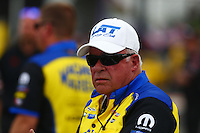 Apr 27, 2014; Baytown, TX, USA; Roy Johnson , father of NHRA pro stock driver Allen Johnson (not pictured) during the Spring Nationals at Royal Purple Raceway. Mandatory Credit: Mark J. Rebilas-