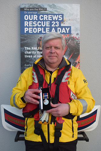 John Petrie, Crew Member, with long service medal