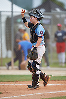 Sean White (3) during the WWBA World Championship at the Roger Dean Complex on October 10, 2019 in Jupiter, Florida.  Sean White attends Starrs Mill High School in Peachtree City, GA and is committed to Georgia Southern.  (Mike Janes/Four Seam Images)