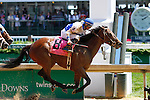 May 01, 2015:  Molly Morgan and Corey Lanerie win the 30th running of The La Troienne Grade 1 $300,000 at Churchill Downs for owner Bill Cubbedge and trainer Dale Romans.  Candice Chavez/ESW/CSM