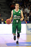 Unicaja´s Ryan Toolson during 2014-15 Liga Endesa match between Real Madrid and Unicaja at Palacio de los Deportes stadium in Madrid, Spain. April 30, 2015. (ALTERPHOTOS/Luis Fernandez)
