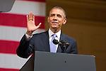 President Barack Obama At Symphony Hall, Boston, MA