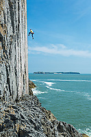 Tom Livingstone on/off 'The Great White' E7 6c, White Tower, Pembroke