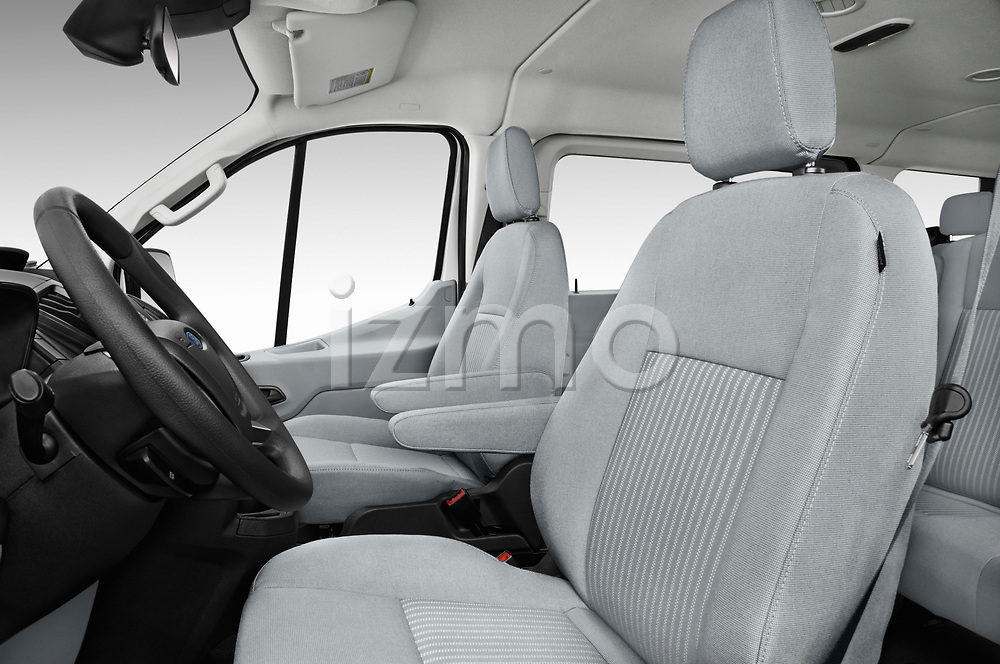 Front seat view of a 2019 Ford Transit Wagon 150 XLT Wagon Low Roof Sliding Pass. 130 5 Door Passenger Van front seat car photos