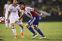 Pasadena, CA - Tuesday June 07, 2016: Paraguay forward Darío Lezcano (19) during a Copa America Centenario Group A match between Colombia (COL) and Paraguay (PAR) at Rose Bowl Stadium.