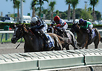 10 July 10: Jessica is Back (no. 3), ridden by Elvis Trujillo and trained by Martin Wolfson, wins the grade 1 Princess Rooney Handicap for fillies and mares three years old and upward at Calder Race Course in Miami Gardens, Florida.