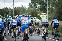 Lars Oreel (BEL/Team Dauner Akkon) and Ludovic Robeet (BEL/Wallonie Bruxelles) in Junxta Position. <br /> <br /> Circuit de Wallonie 2019<br /> One Day Race: Charleroi – Charleroi 192.2km (UCI 1.1.)<br /> Bingoal Cycling Cup 2019