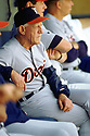 CHICAGO - CIRCA 1995:  Sparky Anderson #11 of the Detroit Tigers looks on from the dugout during an MLB game at Comiskey Park in Chicago, Illinois. Anderson managed for 26 seasons with 2 different teams and was inducted to the Baseball Hall of Fame in 2000 as a manager.(David Durochik / SportPics) --Sparky Anderson