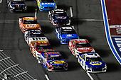 #9: Chase Elliott, Hendrick Motorsports, Chevrolet Camaro NAPA AUTO PARTS and #19: Martin Truex Jr., Joe Gibbs Racing, Toyota Camry Bass Pro Shops / TRACKER ATVs & Boats / USO